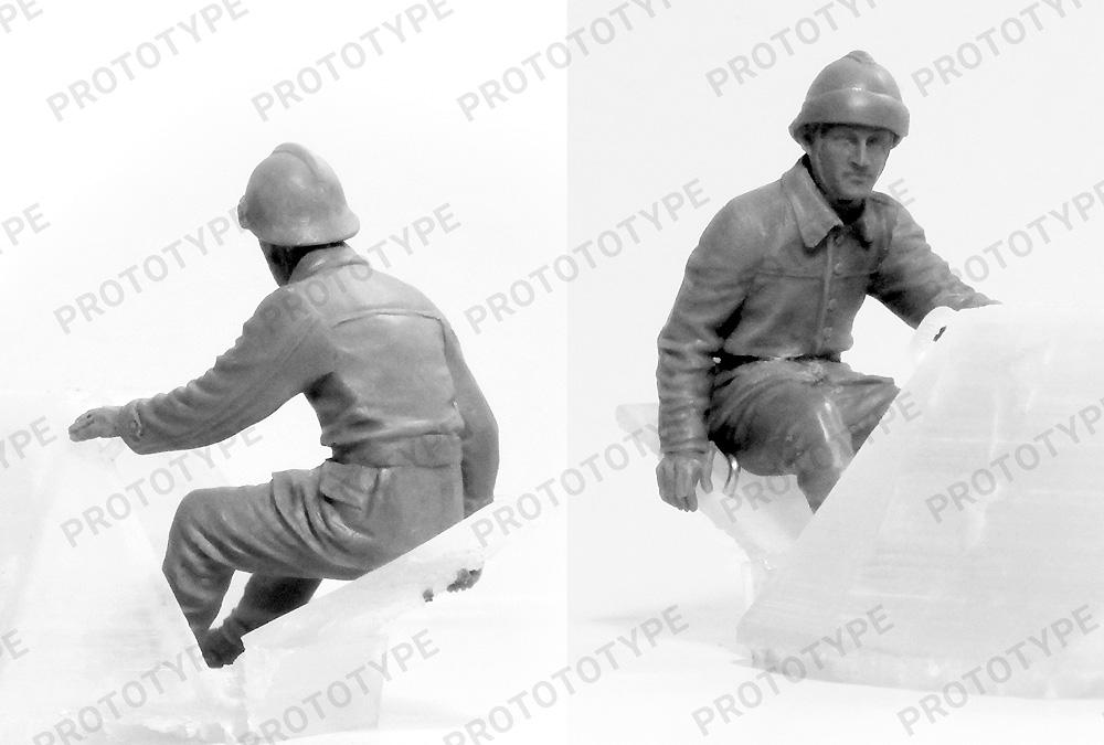 フランス FCM36 軽戦車 w/フランス戦車兵プラモデル(ICM1/35 ミリタリービークル・フィギュアNo.35338)商品画像_2