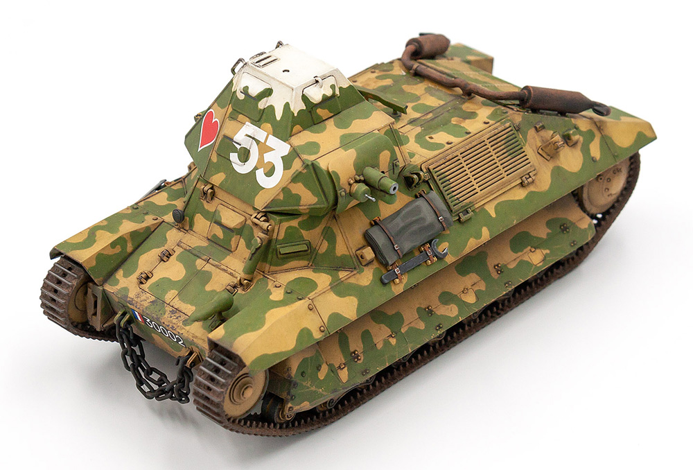 フランス FCM36 軽戦車 w/フランス戦車兵プラモデル(ICM1/35 ミリタリービークル・フィギュアNo.35338)商品画像_3