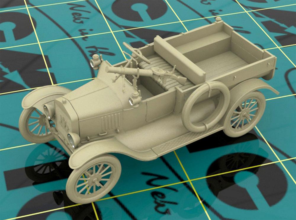 T型フォード 1917 LCP w/ヴィッカース重機関銃プラモデル(ICM1/35 ミリタリービークル・フィギュアNo.35607)商品画像_1