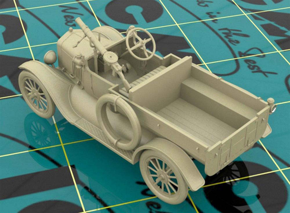T型フォード 1917 LCP w/ヴィッカース重機関銃プラモデル(ICM1/35 ミリタリービークル・フィギュアNo.35607)商品画像_2