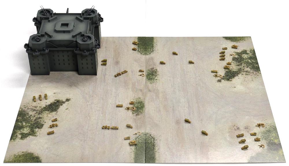 ドイツ軍 ベルリン防空要塞 (フラックタワー)レジン(ピットロードスカイウェーブ S シリーズNo.SPS013)商品画像_1