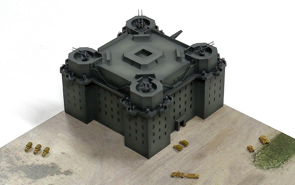 ドイツ軍 ベルリン防空要塞 (フラックタワー)レジン(ピットロードスカイウェーブ S シリーズNo.SPS013)商品画像_2