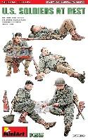 ミニアート1/35 WW2 ミリタリーミニチュアアメリカ兵 休息中 スペシャルエディション