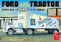 amt1/25 カーモデルフォード C-900 チルトキャブ トラクター トレーラー ホステスケーキ
