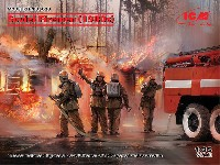 ICM1/35 ミリタリービークル・フィギュアソビエト 消防士 1980年代