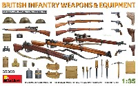 ミニアート1/35 WW2 ミリタリーミニチュアイギリス軍 歩兵用武器 & 装備品