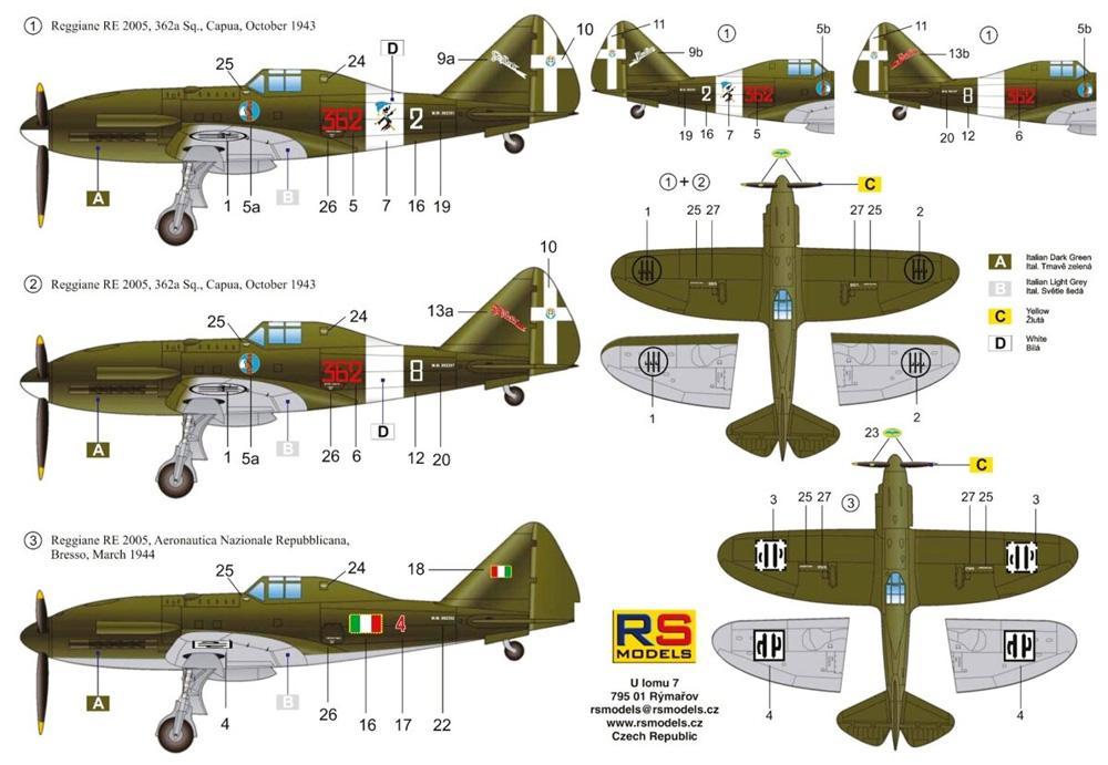 レジアーネ 2005 カプア イタリア 戦闘機プラモデル(RSモデル1/72 エアクラフト プラモデルNo.92256)商品画像_1