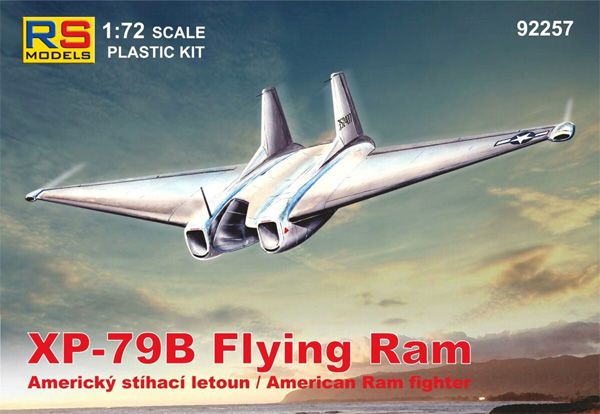 XP-79B フライングラム ミューロック ドライレイク 1945プラモデル(RSモデル1/72 エアクラフト プラモデルNo.92257)商品画像