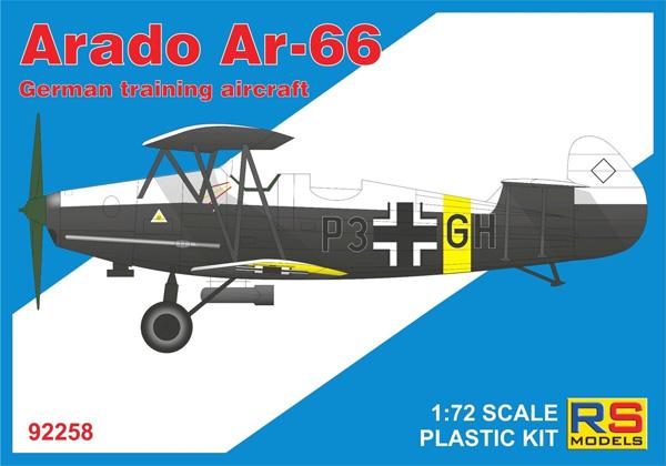 アラド Ar-66 ドイツ練習機プラモデル(RSモデル1/72 エアクラフト プラモデルNo.92258)商品画像