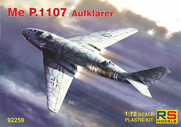 メッサーシュミット P.1107 長距離ジェット爆撃機 KG40 1946プラモデル(RSモデル1/72 エアクラフト プラモデルNo.92259)商品画像