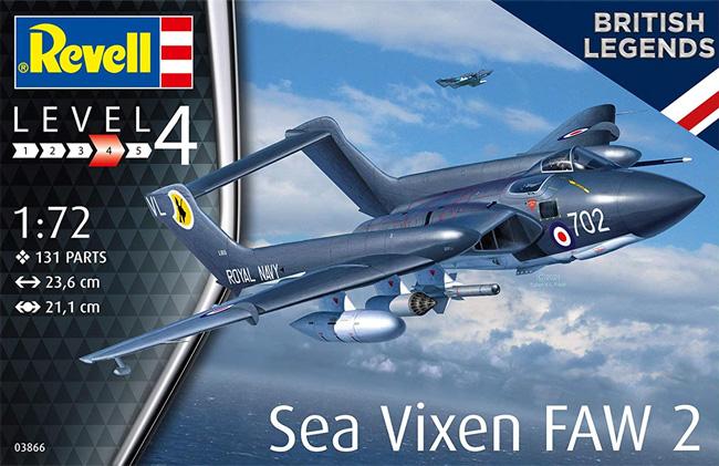 シービクセン FAW2 ブリティッシュレジェンドプラモデル(レベル1/72 AircraftNo.03866)商品画像
