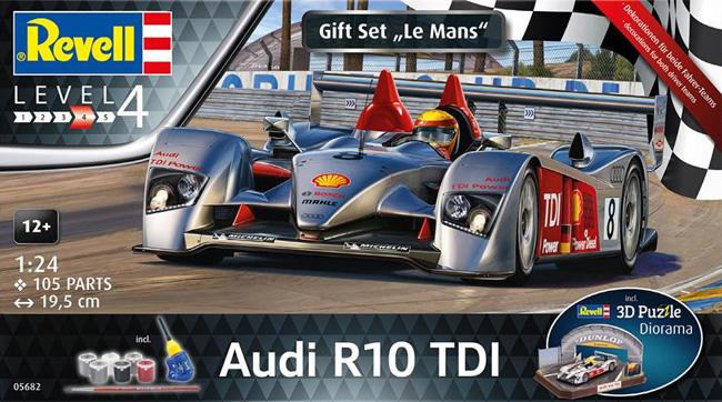 アウディ R10 TDI ル・マン & 3Dパズル ジオラマ (ギフトセット)プラモデル(レベルカーモデルNo.05682)商品画像