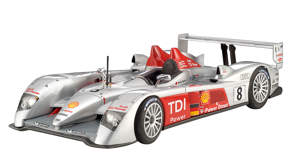 アウディ R10 TDI ル・マン & 3Dパズル ジオラマ (ギフトセット)プラモデル(レベルカーモデルNo.05682)商品画像_2
