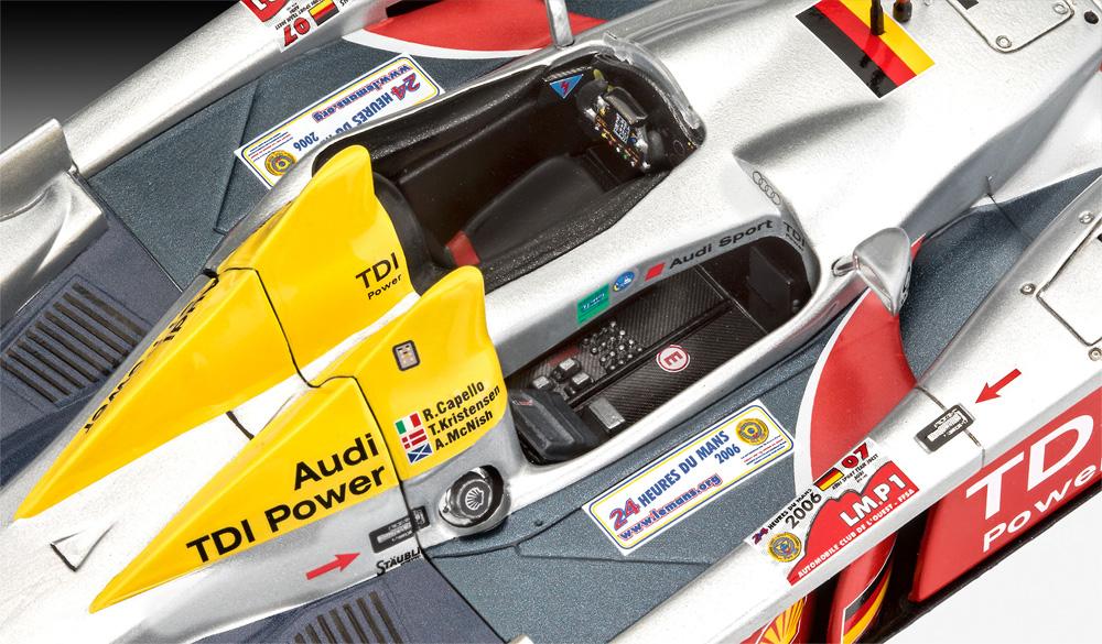 アウディ R10 TDI ル・マン & 3Dパズル ジオラマ (ギフトセット)プラモデル(レベルカーモデルNo.05682)商品画像_4