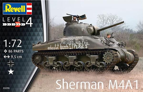 シャーマン M4A1プラモデル(レベル1/72 ミリタリーNo.03290)商品画像