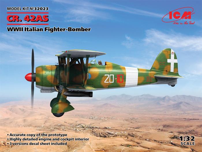 フィアット CR.42AS WW2 イタリア 戦闘爆撃機プラモデル(ICM1/32 エアクラフトNo.32023)商品画像