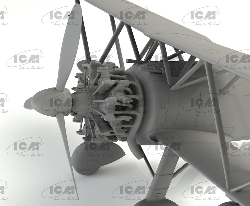 フィアット CR.42AS WW2 イタリア 戦闘爆撃機プラモデル(ICM1/32 エアクラフトNo.32023)商品画像_4
