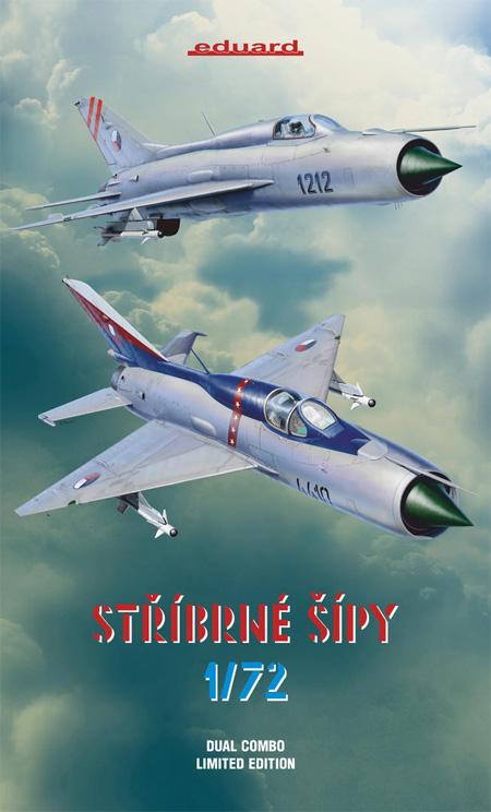 シルバーアロー MiG-21PF/PFM デュアルコンボプラモデル(エデュアルド1/72 リミテッド エディションNo.2134)商品画像