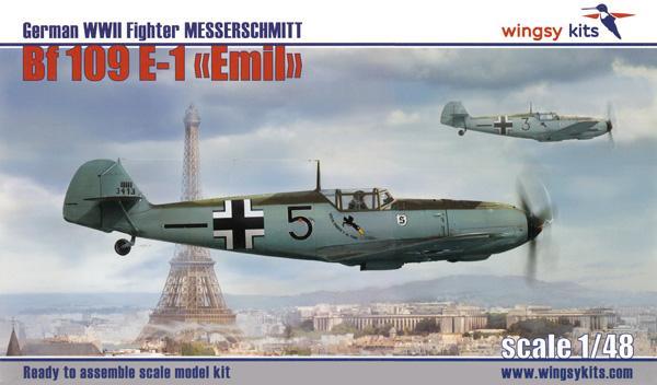 メッサーシュミット Bf109E-1 エミールプラモデル(ウイングジーキット1/48 エアクラフト プラモデルNo.D5-007)商品画像