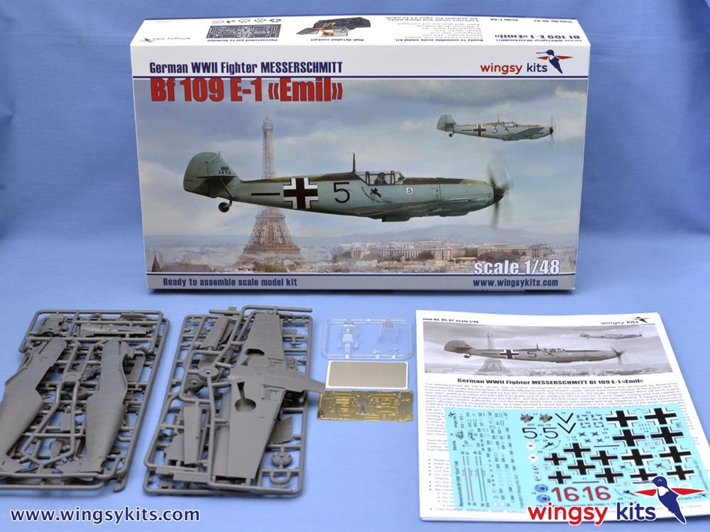 メッサーシュミット Bf109E-1 エミールプラモデル(ウイングジーキット1/48 エアクラフト プラモデルNo.D5-007)商品画像_1