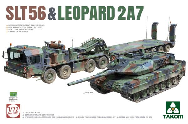 SLT56 戦車運搬車 & レオパルト 2A7プラモデル(タコム1/72 ミリタリーNo.5011)商品画像