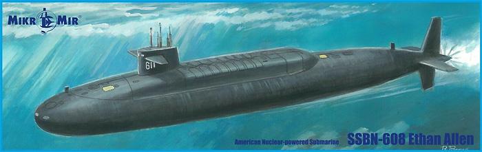 SSBN-608 イーサン・アレン 弾道ミサイル原子力潜水艦プラモデル(ミクロミル1/350 艦船モデルNo.350-042)商品画像