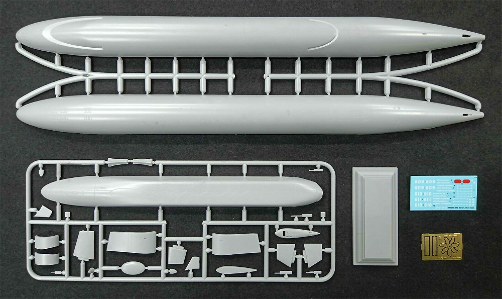 SSBN-608 イーサン・アレン 弾道ミサイル原子力潜水艦プラモデル(ミクロミル1/350 艦船モデルNo.350-042)商品画像_1