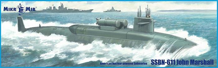 SSBN-611 ジョン・マーシャル 弾道ミサイル原子力潜水艦プラモデル(ミクロミル1/350 艦船モデルNo.350-043)商品画像