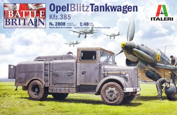 オペル ブリッツ 燃料補給車 Kfz.385プラモデル(イタレリ1/48 ミリタリーモデルNo.2808)商品画像