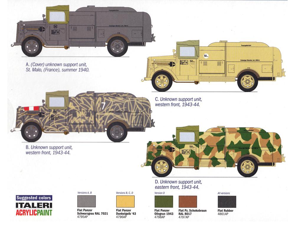 オペル ブリッツ 燃料補給車 Kfz.385プラモデル(イタレリ1/48 ミリタリーモデルNo.2808)商品画像_1