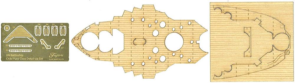 ちび丸艦隊 扶桑 特別仕様 エッチングパーツ・木甲板シール付きプラモデル(フジミちび丸艦隊 シリーズNo.ちび丸-030EX-003)商品画像_4