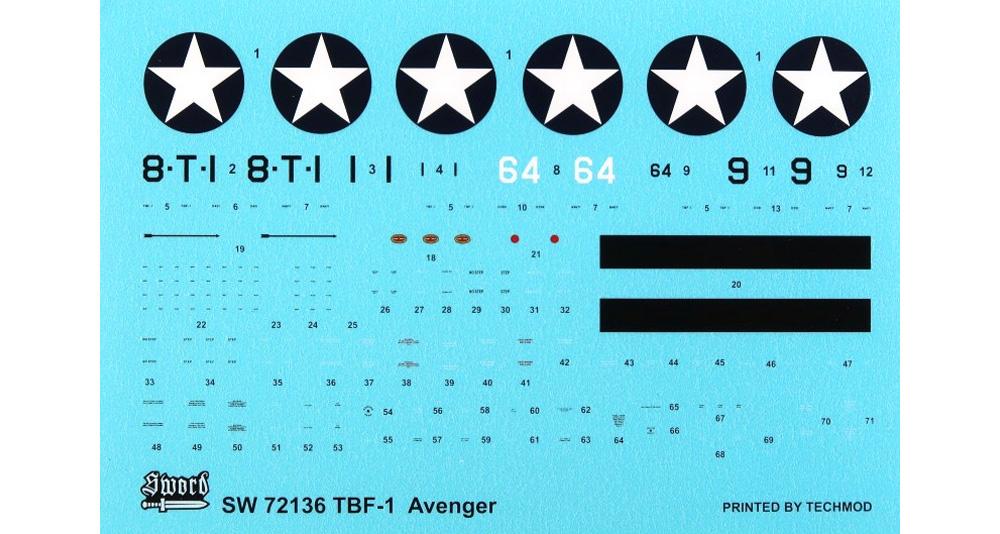TBF-1 アベンジャー ミッドウェイ アンド ガダルカナルプラモデル(ソード1/72 エアクラフト プラモデルNo.SW72136)商品画像_1