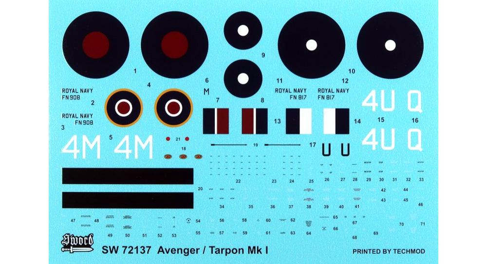 アベンジャー / ターポン Mk.1プラモデル(ソード1/72 エアクラフト プラモデルNo.SW72137)商品画像_1