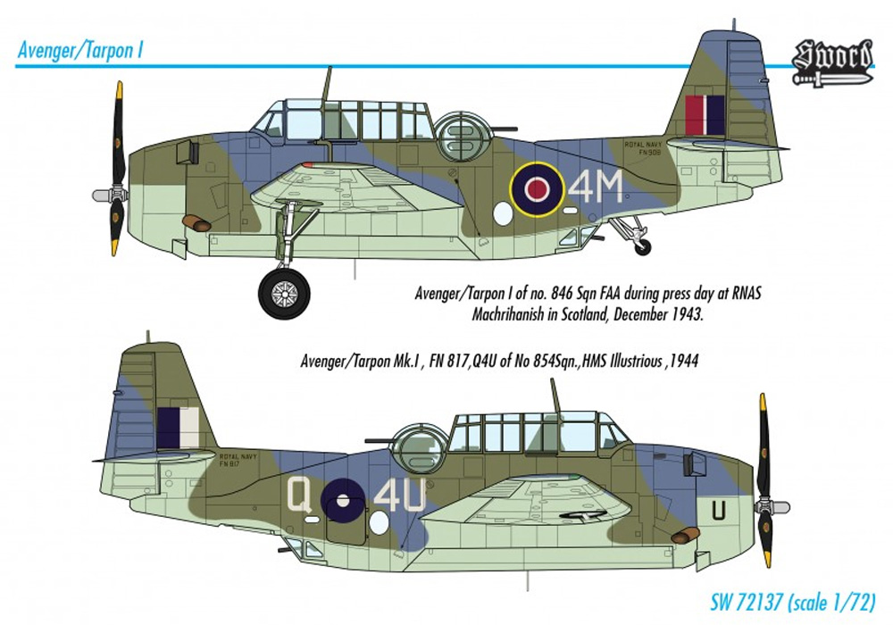 アベンジャー / ターポン Mk.1プラモデル(ソード1/72 エアクラフト プラモデルNo.SW72137)商品画像_2