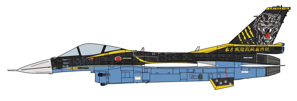三菱 F-2A 8SQ 60周年記念塗装機プラモデル(ハセガワ1/72 飛行機 限定生産No.02376)商品画像_2