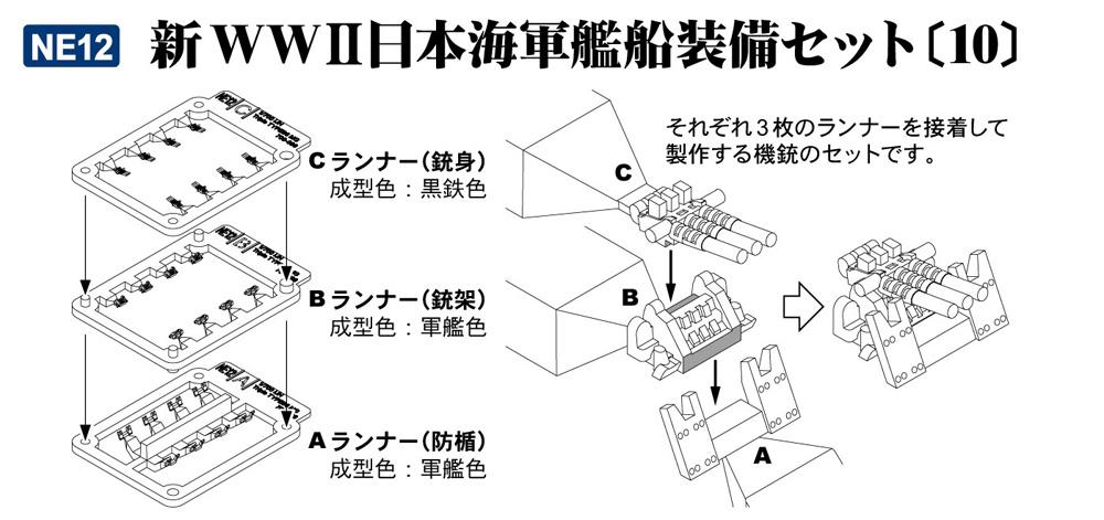 新WW2 日本海軍艦船装備セット 10プラモデル(ピットロードスカイウェーブ NE シリーズNo.NE012)商品画像_2
