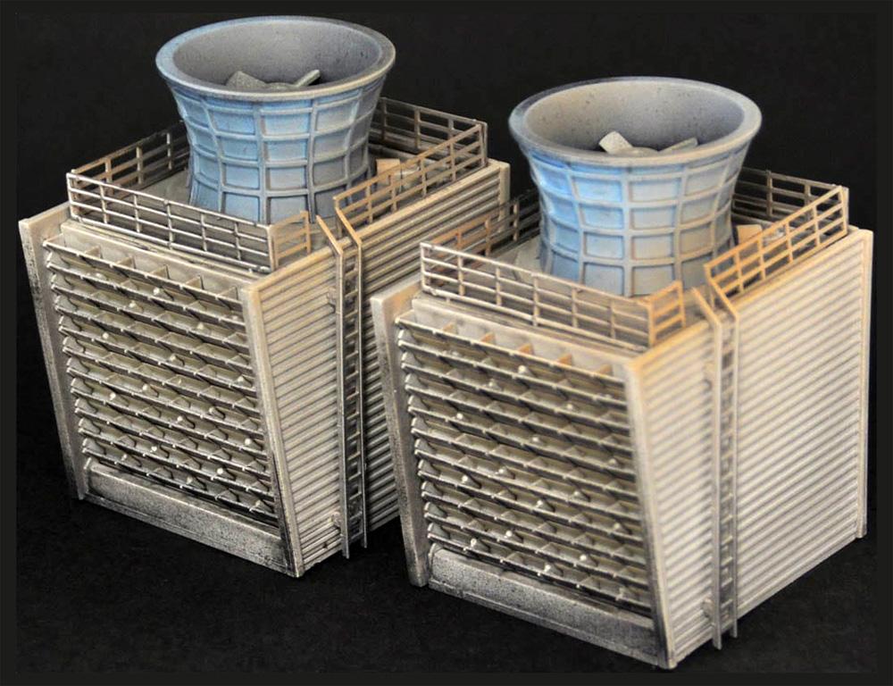 戦禍のコンビナート C 冷却塔プラモデル(トミーテックジオコレ コンバットNo.DCM010)商品画像_2