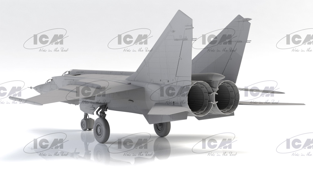 MiG-25PUプラモデル(ICM1/72 エアクラフト プラモデルNo.72178)商品画像_3