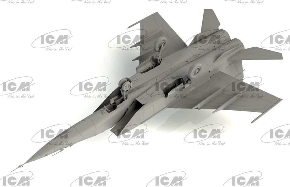 MiG-25PUプラモデル(ICM1/72 エアクラフト プラモデルNo.72178)商品画像_4