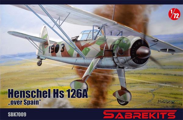 ハインケル Hs126A スペイン上空プラモデル(セイバーキッツ1/72 プラスチックモデルNo.SBK7009)商品画像