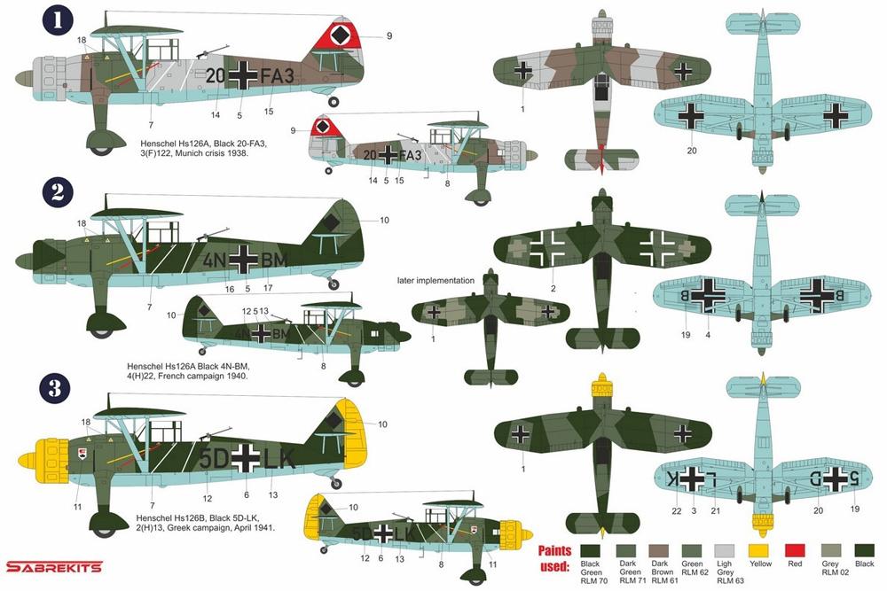 ハインケル Hs126A/B 電撃戦プラモデル(セイバーキッツ1/72 プラスチックモデルNo.SBK7010)商品画像_1