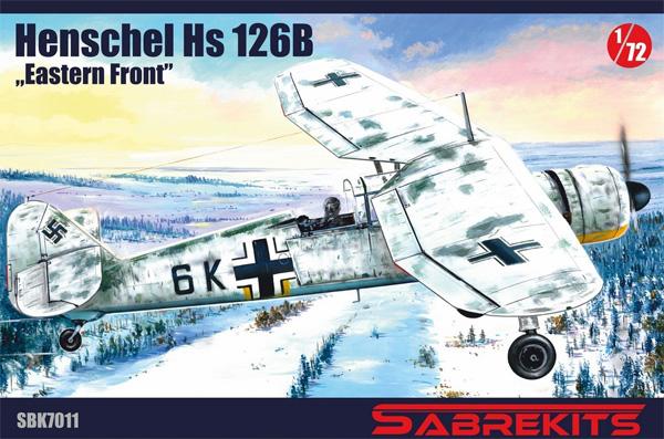 ハインケル Hs126B 東部戦線プラモデル(セイバーキッツ1/72 プラスチックモデルNo.SBK7011)商品画像