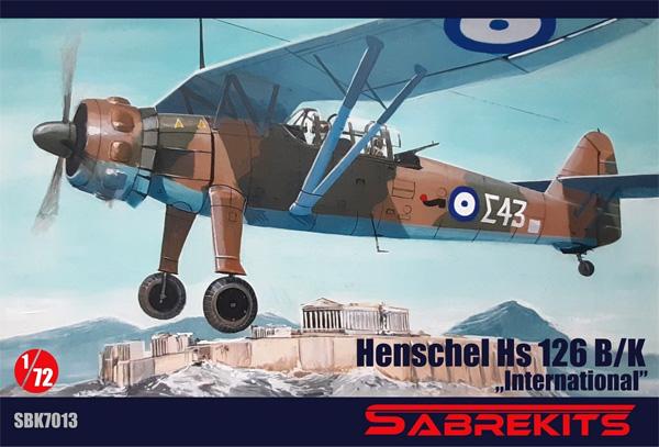 ハインケル Hs126B/K インターナショナルプラモデル(セイバーキッツ1/72 プラスチックモデルNo.SBK7013)商品画像