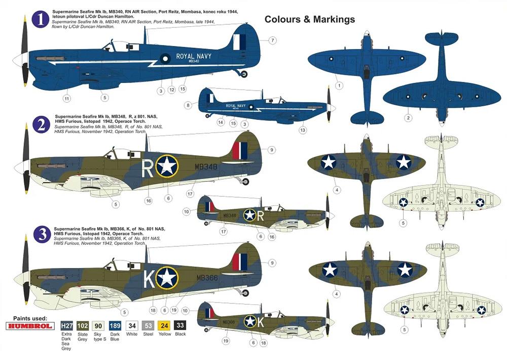 スーパーマリン シーファイア Mk.1b アフリカ上空プラモデル(KPモデル1/72 エアクラフト プラモデルNo.KPM0241)商品画像_1