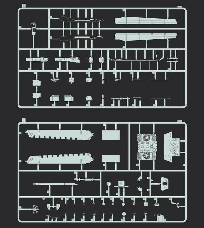 ドイツ キングタイガー ヘンシェル砲塔プラモデル(フライホーク1/72 AFVNo.FH3019)商品画像_4