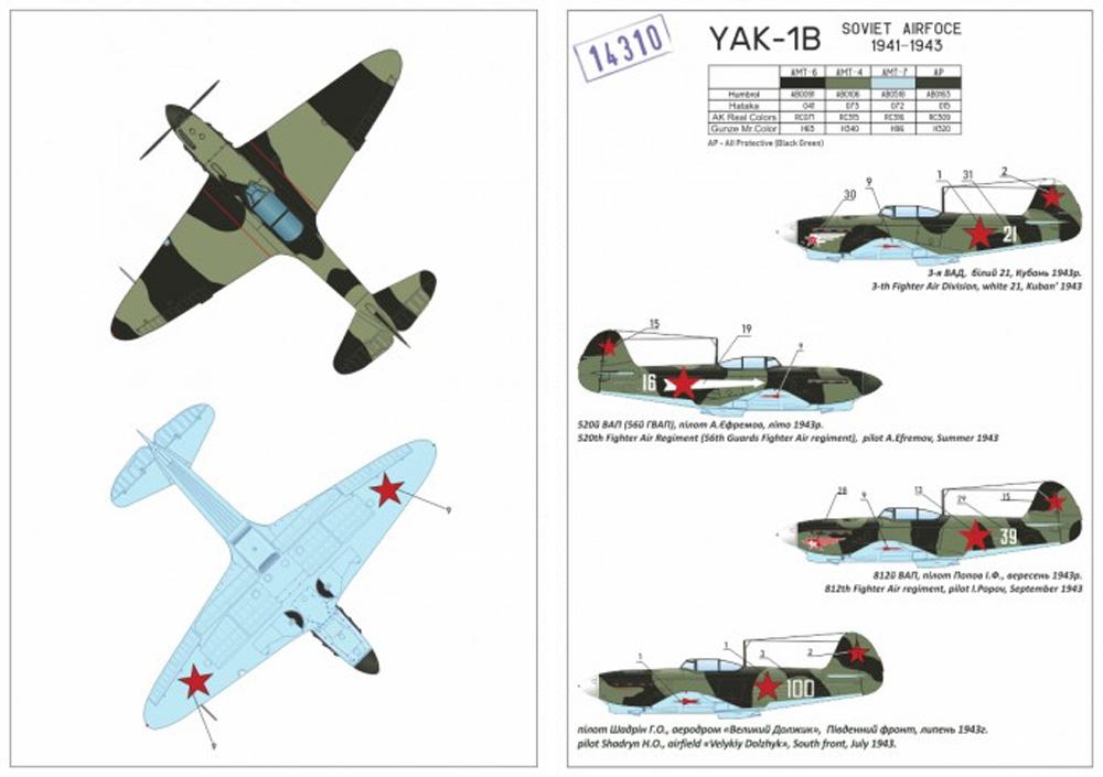 ヤコヴレフ Yak-1b 緑・黒迷彩プラモデル(ARMORY1/144 エアクラフトNo.AR14310)商品画像_2