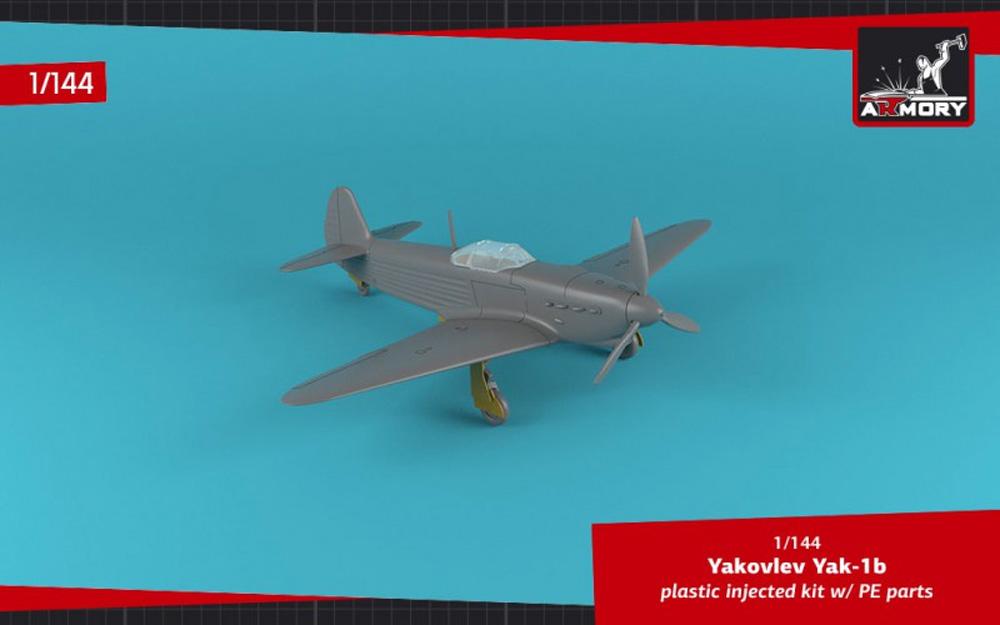 ヤコヴレフ Yak-1b 緑・黒迷彩プラモデル(ARMORY1/144 エアクラフトNo.AR14310)商品画像_4