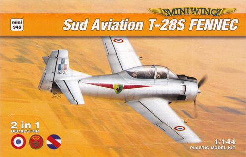 シュド・アビアシオン T-28S フェネック 2in1プラモデル(ミニウイング1/144 インジェクションキットNo.mini345)商品画像