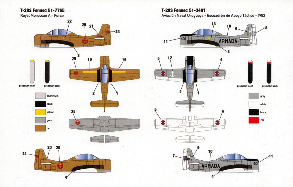 シュド・アビアシオン T-28S フェネック 2in1プラモデル(ミニウイング1/144 インジェクションキットNo.mini345)商品画像_1