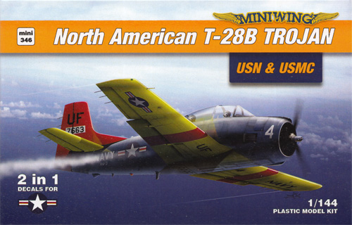 ノースアメリカン T-28B トロージャン 米海軍 & 海兵隊 2in1プラモデル(ミニウイング1/144 インジェクションキットNo.mini346)商品画像